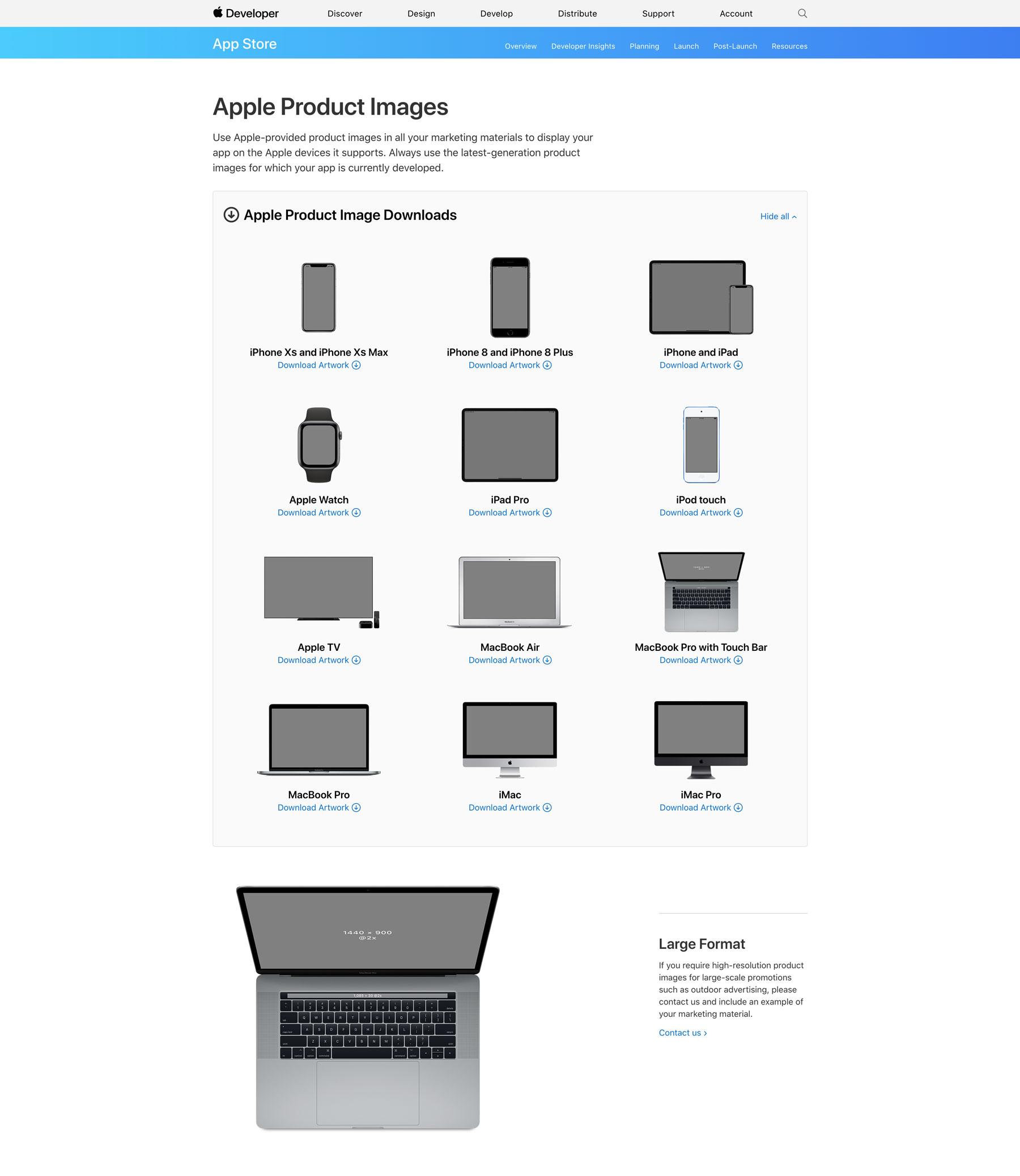 Apple Marketing Resources Screenshot