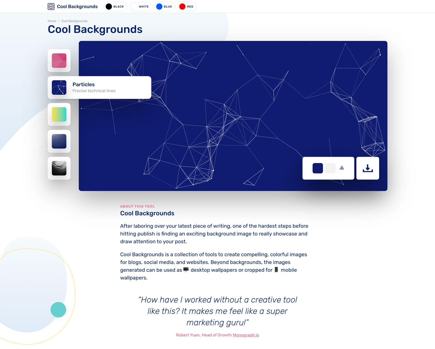 Cool Backgrounds Screenshot