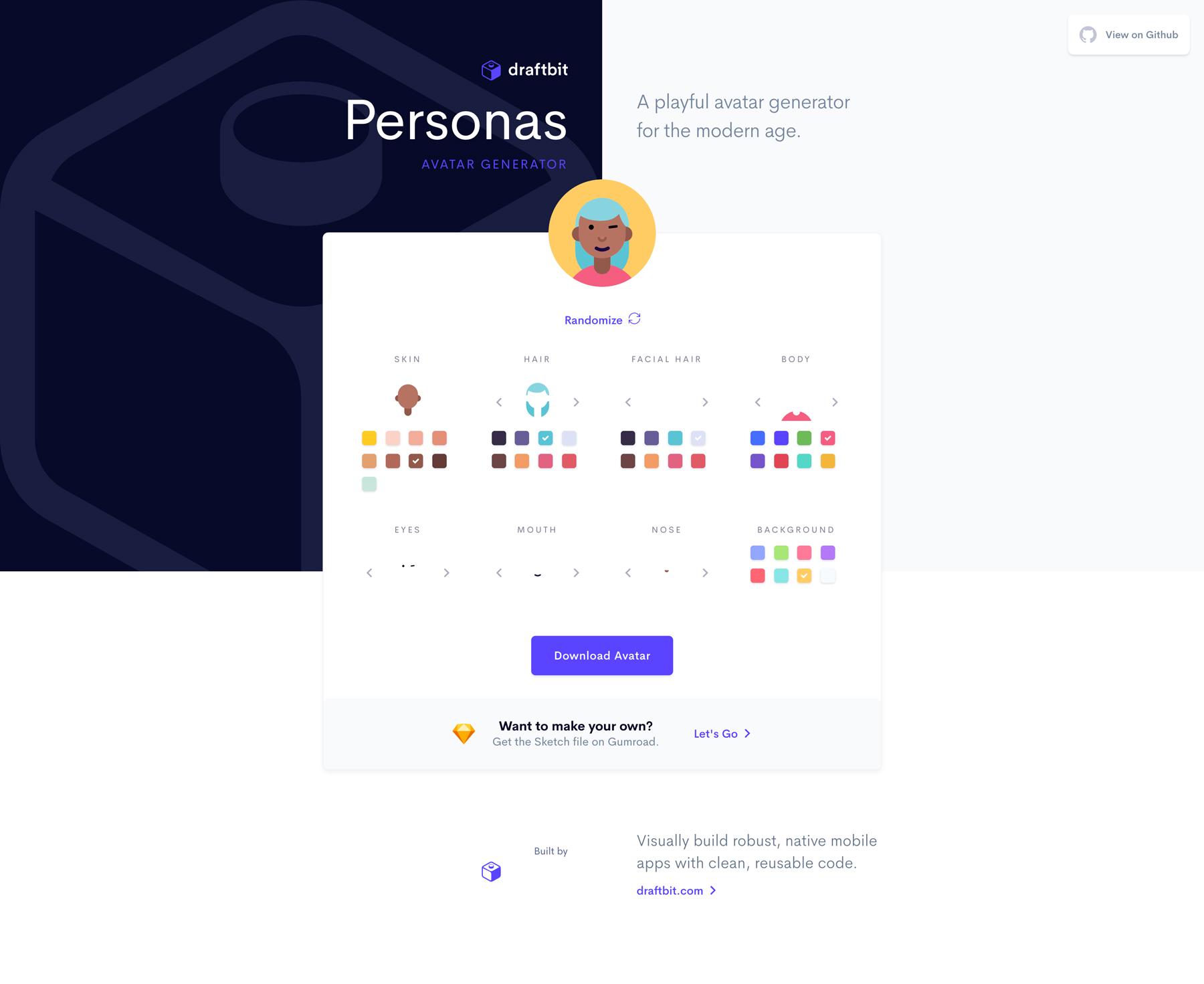 Personas Screenshot