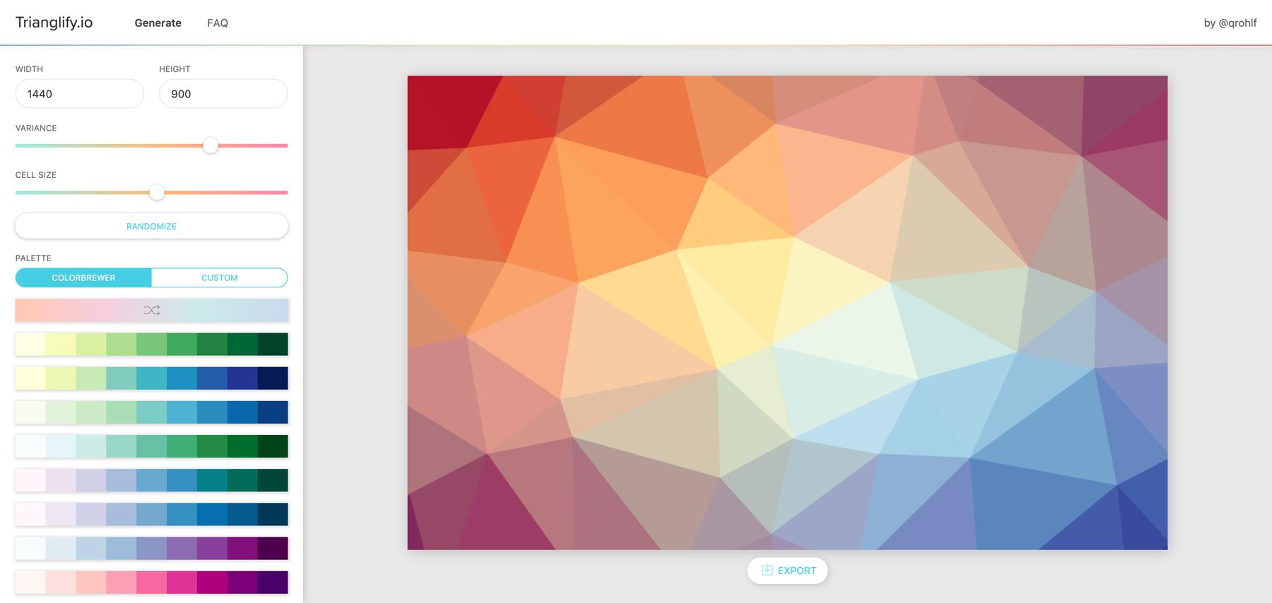 Trianglify Screenshot